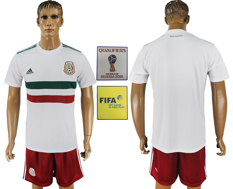 Men 2018 World Cup Mexico away white soccer jersey