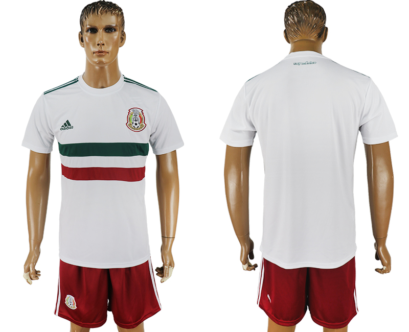 Men 2018 World Cup Mexico away white soccer jersey1