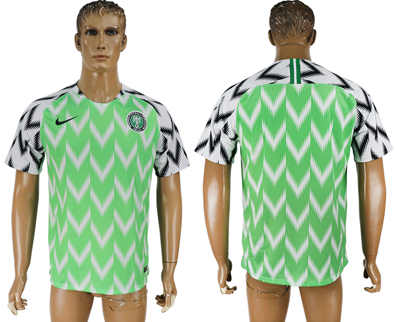 Men 2018 World Cup Nigeria home aaa version green soccer jersey