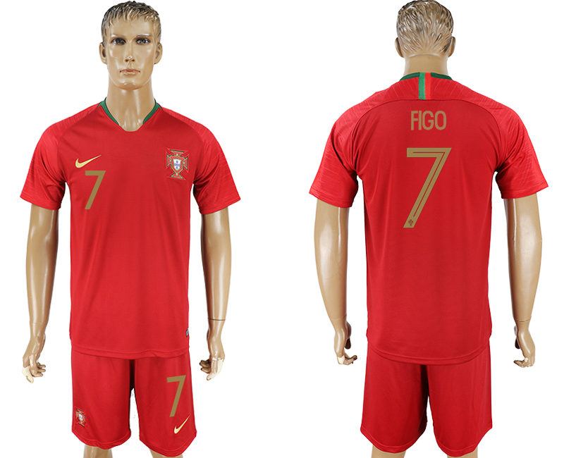 Men 2018 World Cup Portugal home 7 red soccer jersey