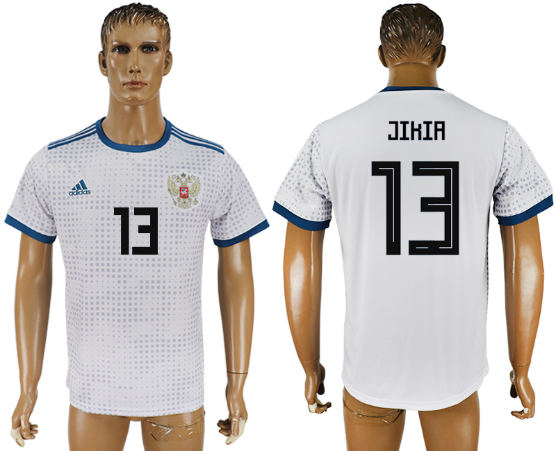 Men 2018 World Cup Russia away aaa version 13 white soccer jersey
