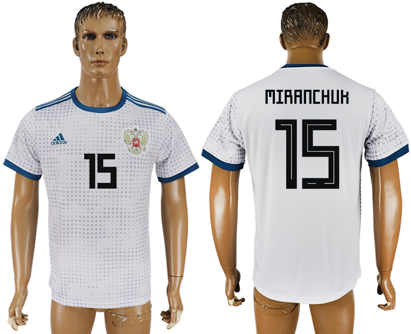 Men 2018 World Cup Russia away aaa version 15 white soccer jersey