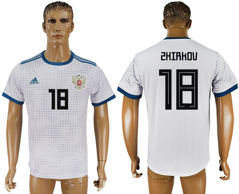 Men 2018 World Cup Russia away aaa version 18 white soccer jersey