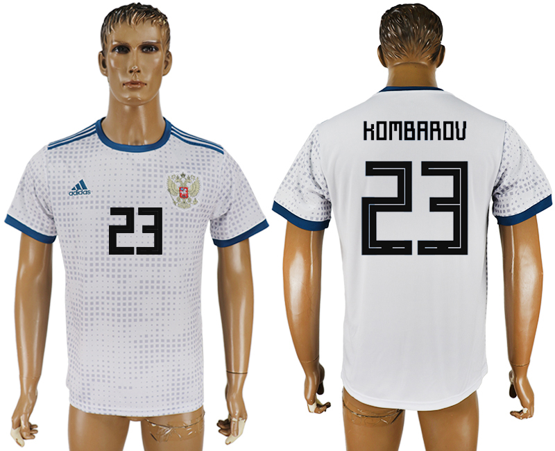 Men 2018 World Cup Russia away aaa version 23 white soccer jersey