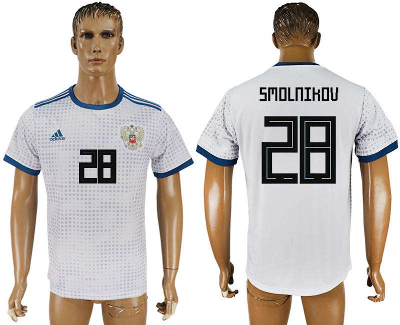 Men 2018 World Cup Russia away aaa version 28 white soccer jersey