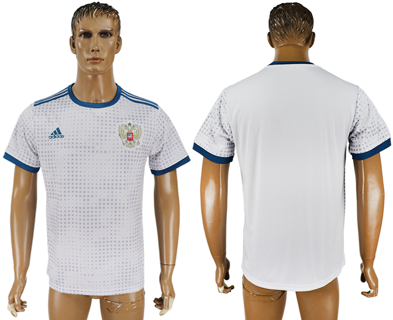 Men 2018 World Cup Russia away aaa version white soccer jersey