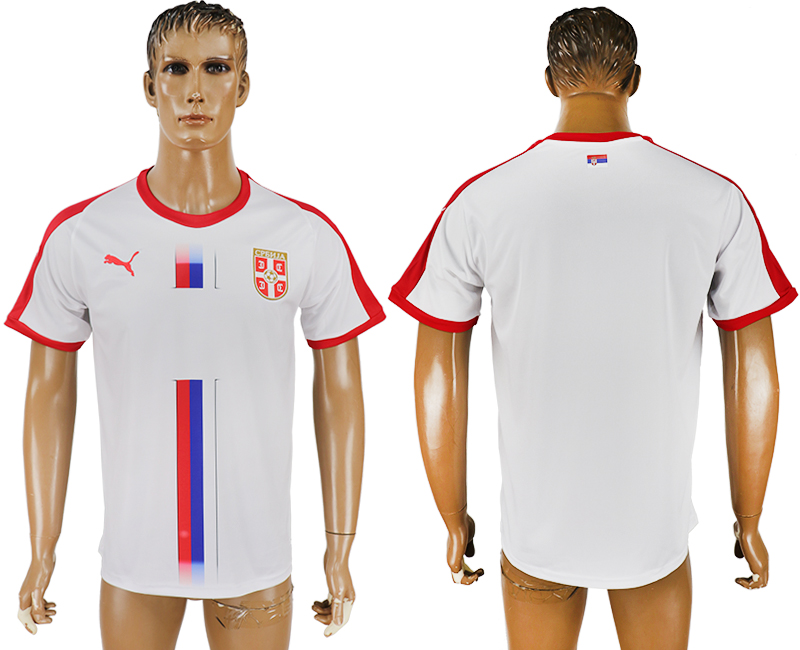 Men 2018 World Cup Serbia away aaa version white soccer jersey