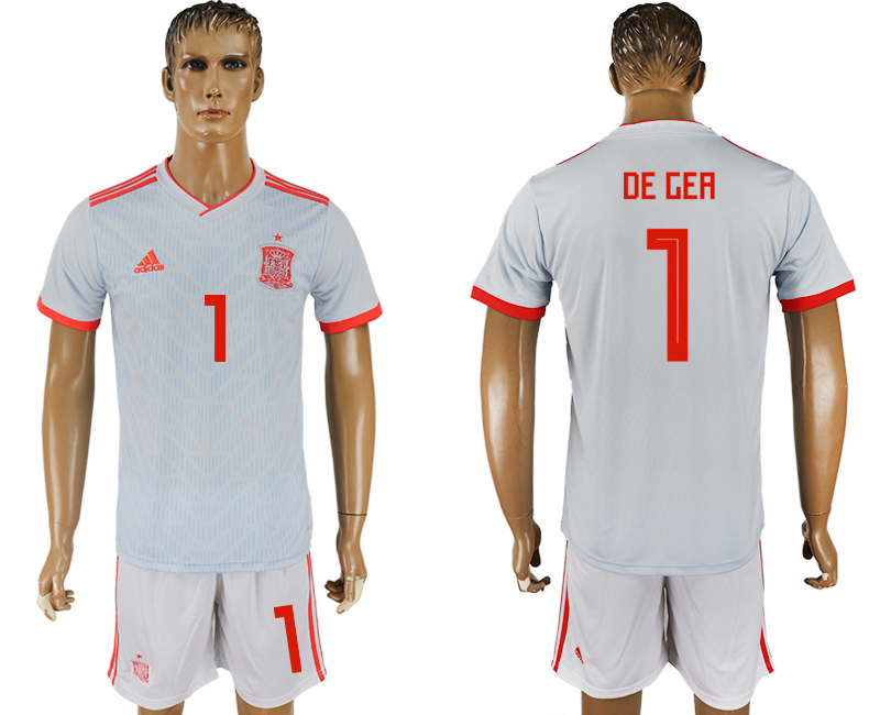 Men 2018 World Cup Spain away 1 white soccer jersey