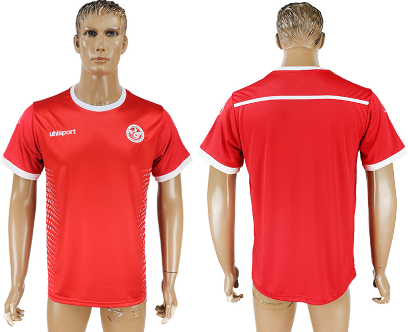 Men 2018 World Cup Tunisia away aaa version red soccer jersey
