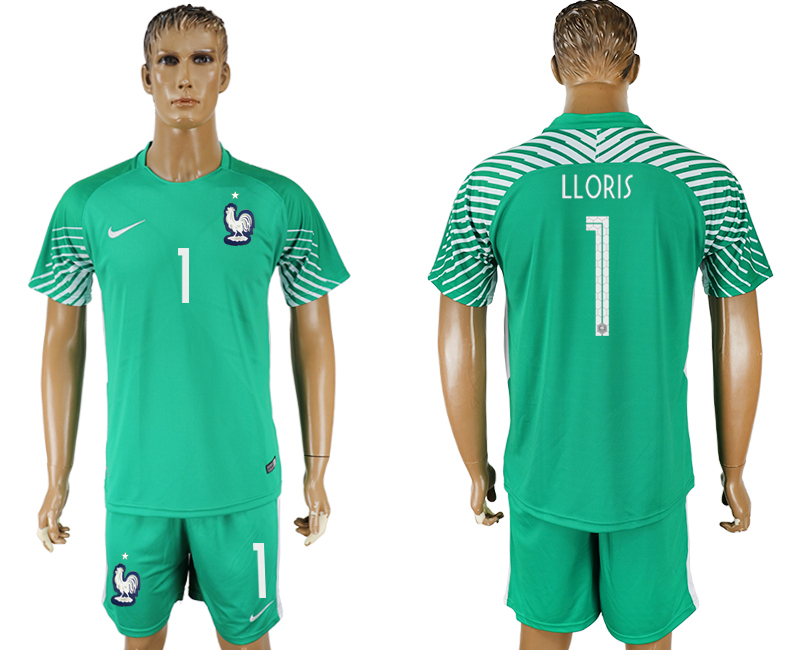 Men 2018 World Cup franch green goalkeeper 1 soccer jersey