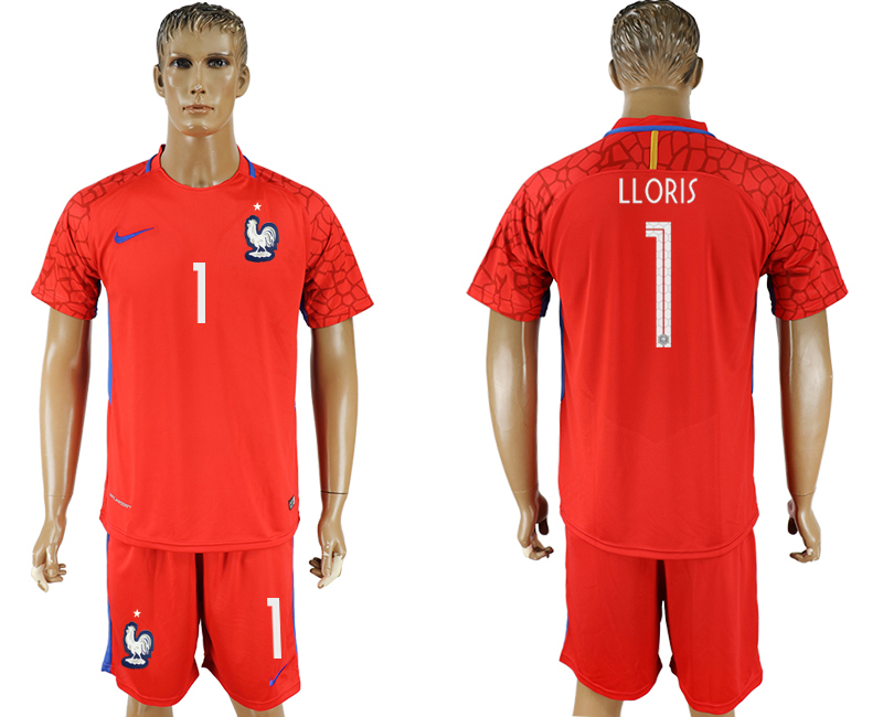 Men 2018 World Cup franch red goalkeeper 1 soccer jersey