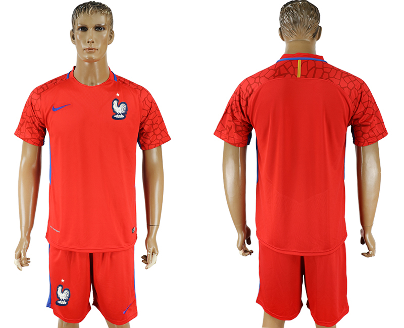 Hommes 2018 Coupe du monde de football rouge gardien de but maillot de football