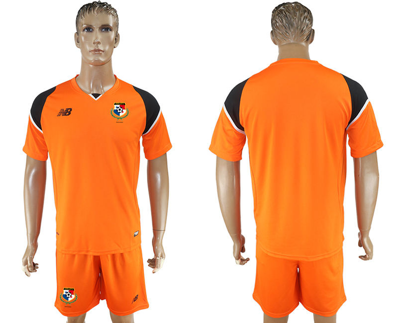 Men 2018 World Cup panama orange soccer jersey