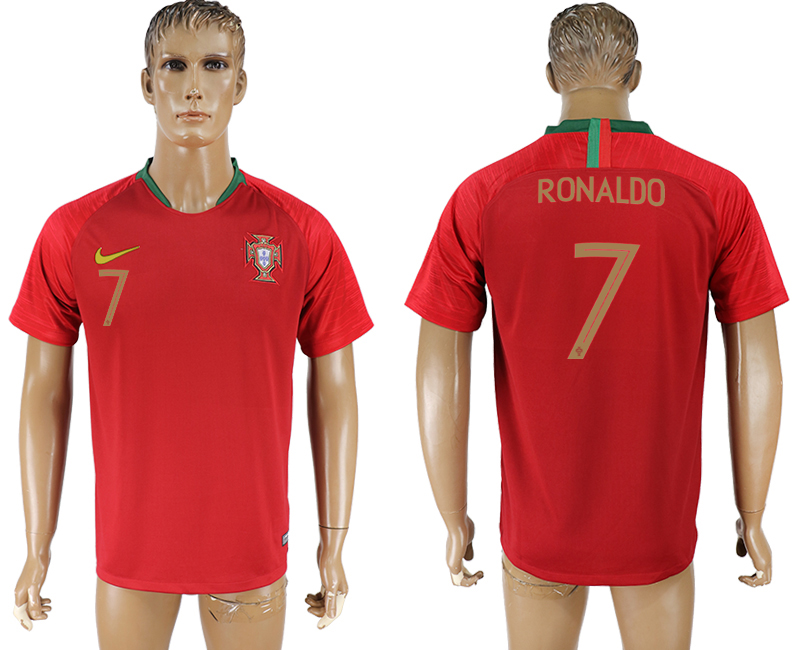 Men 2018 World cup Portugal home 7 aaa version red soccer jersey