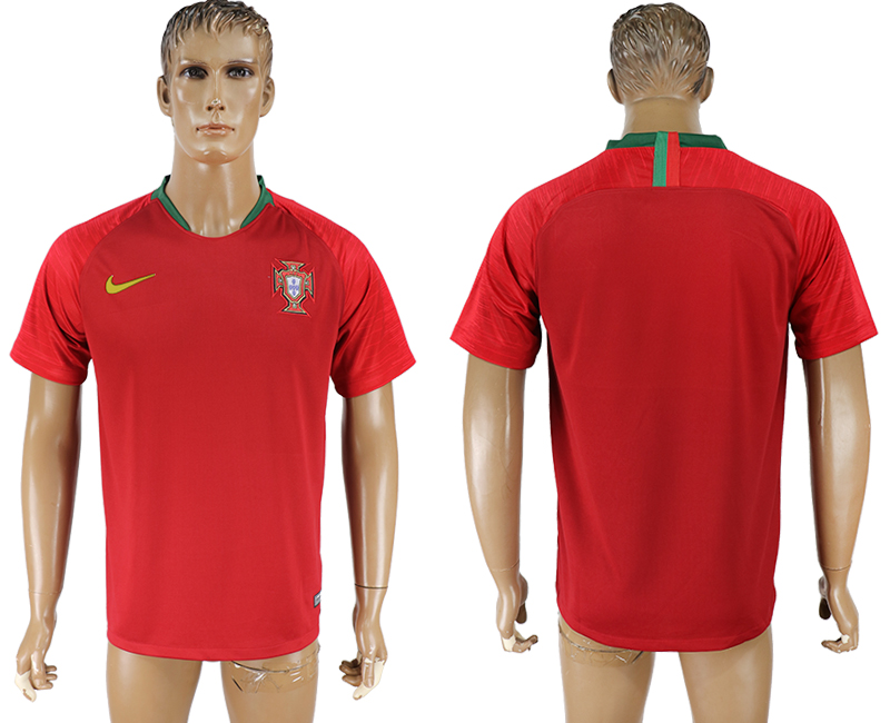 Men 2018 World cup Portugal home aaa version red soccer jersey