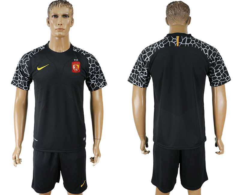 Men 2018-2019 club Guangzhou Evergrande Taobao black goalkeeper soccer jersey