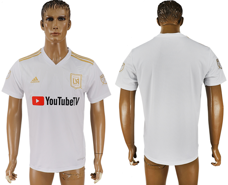 Men 2018-2019 club Los Angeles FC away aaa version white soccer jersey
