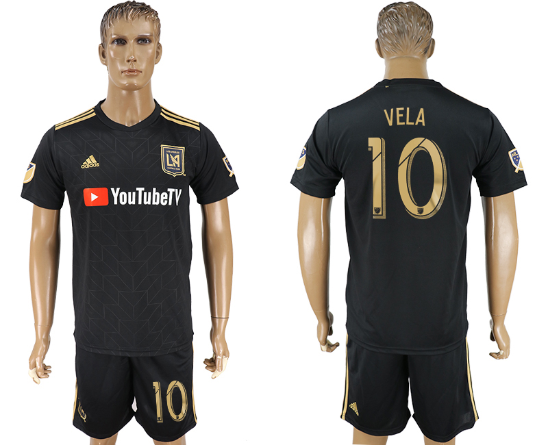 Men 2018-2019 club Los Angeles FC home 10 black soccer jersey