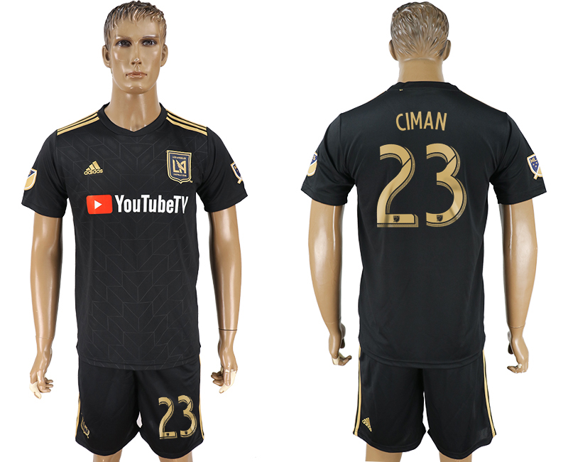 Men 2018-2019 club Los Angeles FC home 23 black soccer jersey