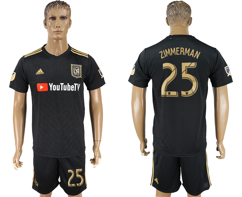 Men 2018-2019 club Los Angeles FC home 25 black soccer jersey