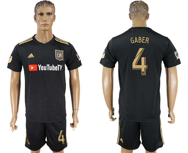 Men 2018-2019 club Los Angeles FC home 4 black soccer jersey