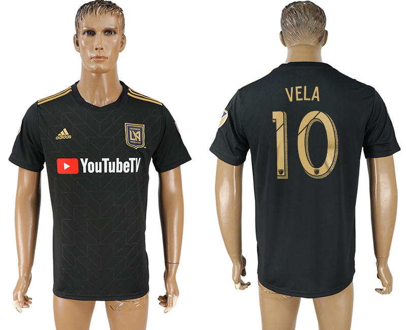 Men 2018-2019 club Los Angeles FC home aaa version 10 black soccer jersey