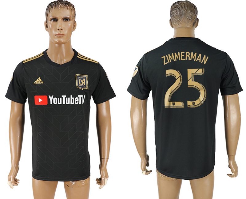Men 2018-2019 club Los Angeles FC home aaa version 25 black soccer jersey