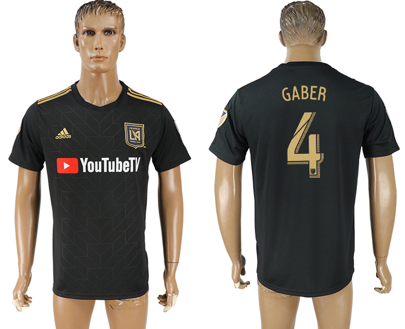 Men 2018-2019 club Los Angeles FC home aaa version 4 black soccer jersey
