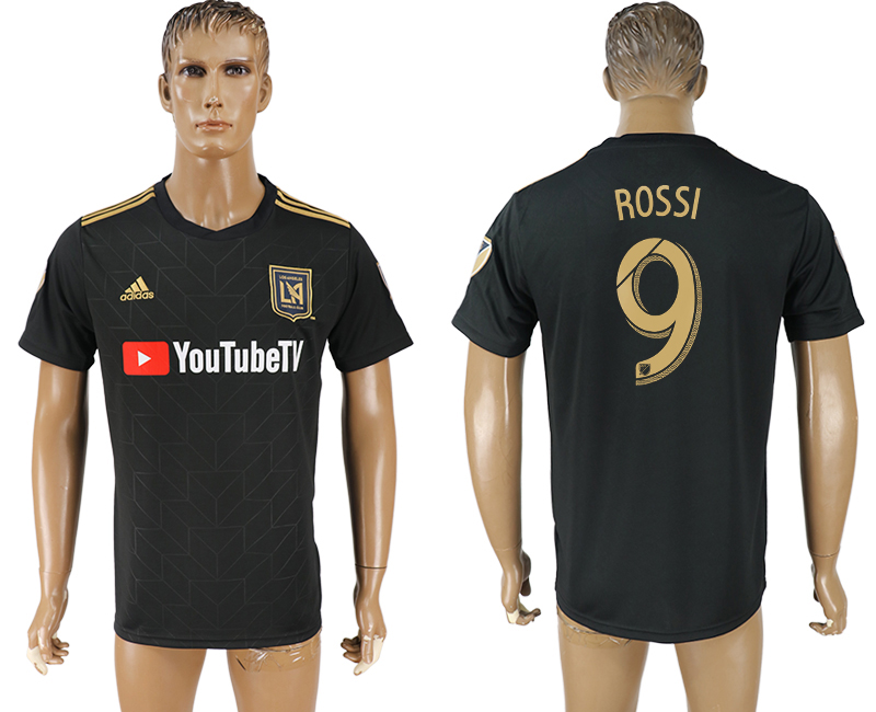 Men 2018-2019 club Los Angeles FC home aaa version 9 black soccer jersey