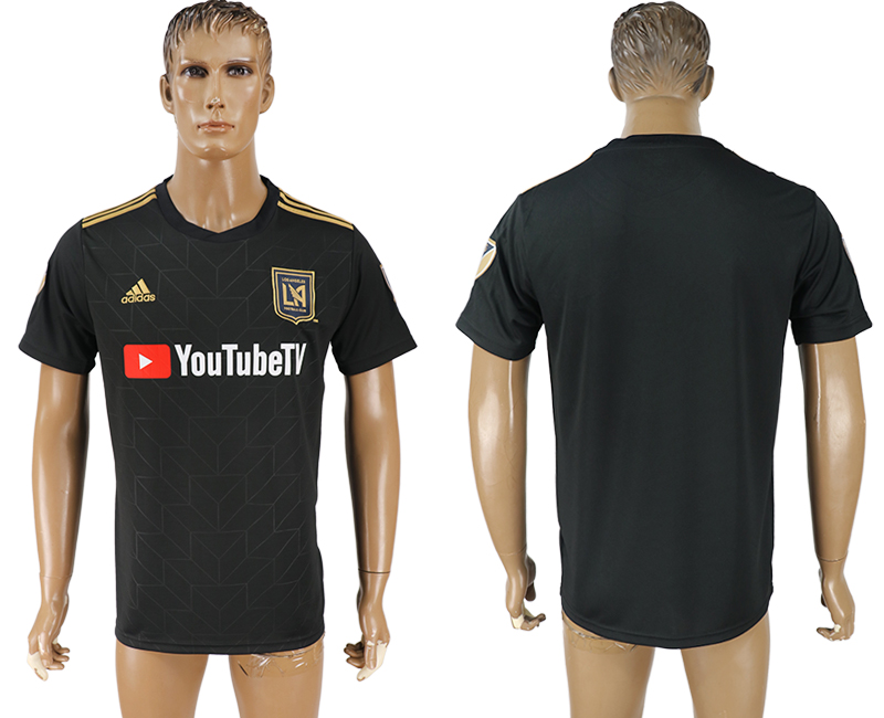 Men 2018-2019 club Los Angeles FC home aaa version black soccer jersey