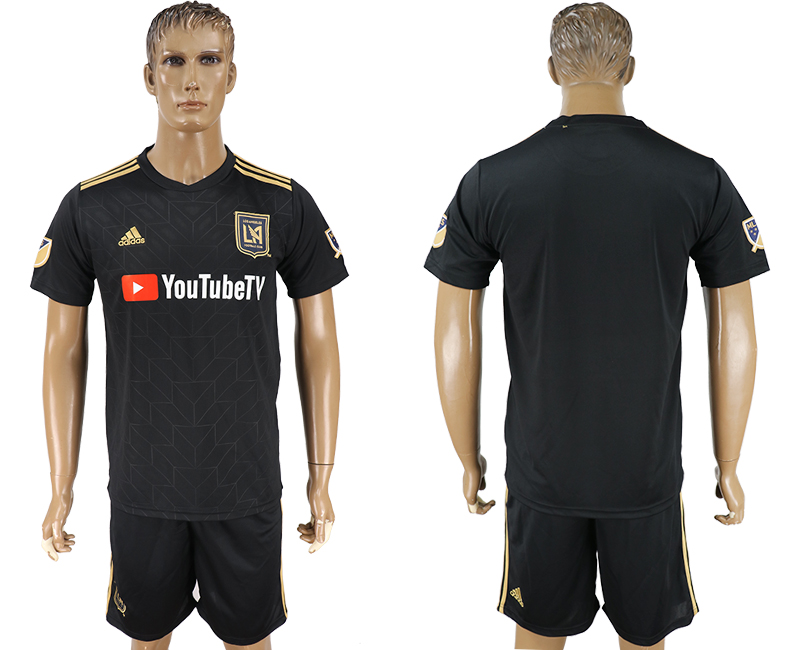 Men 2018-2019 club Los Angeles FC home black soccer jersey