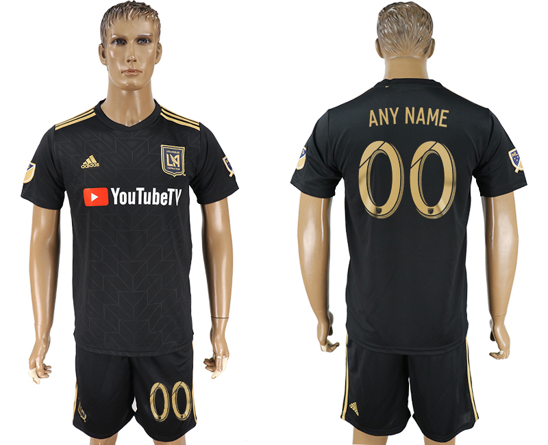 Men 2018-2019 club Los Angeles FC home customized black soccer jersey