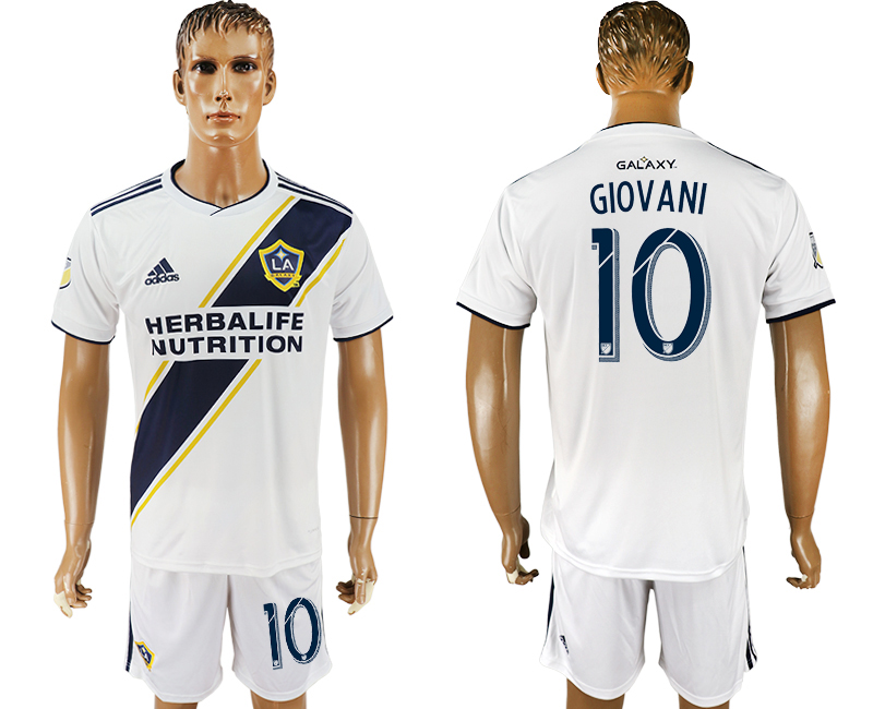 Men 2018-2019 club Los Angeles Galaxy home 10 white soccer jersey