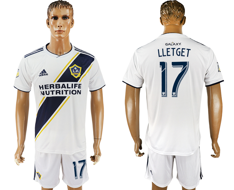 Men 2018-2019 club Los Angeles Galaxy home 17 white soccer jersey