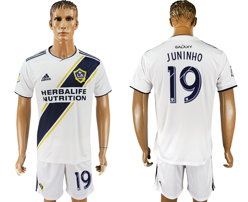 Men 2018-2019 club Los Angeles Galaxy home 19 white soccer jersey