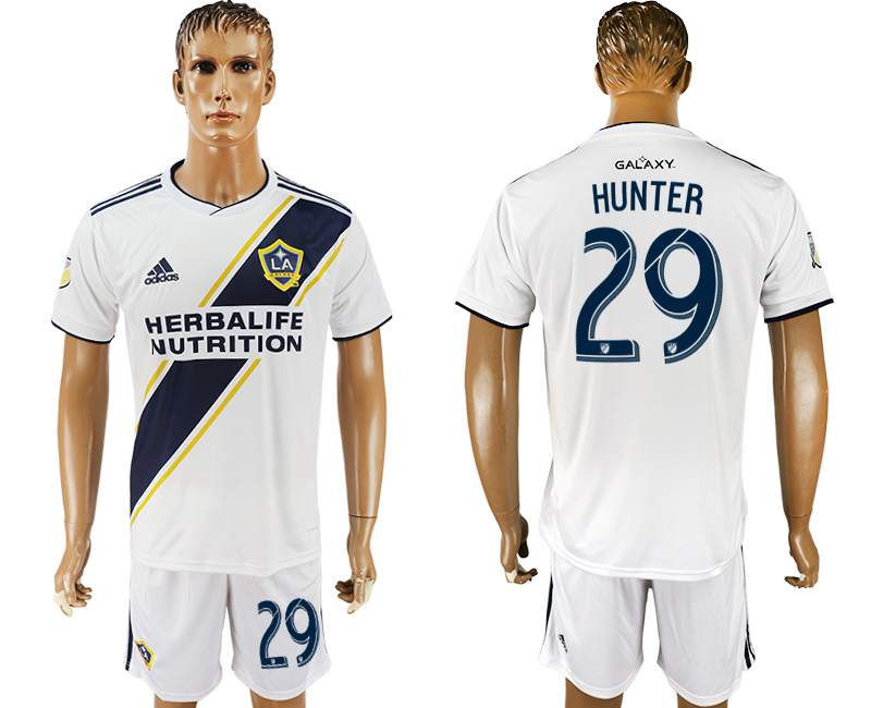 Men 2018-2019 club Los Angeles Galaxy home 29 white soccer jersey