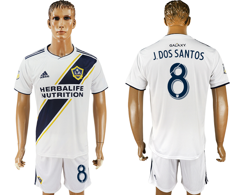 Men 2018-2019 club Los Angeles Galaxy home 8 white soccer jersey