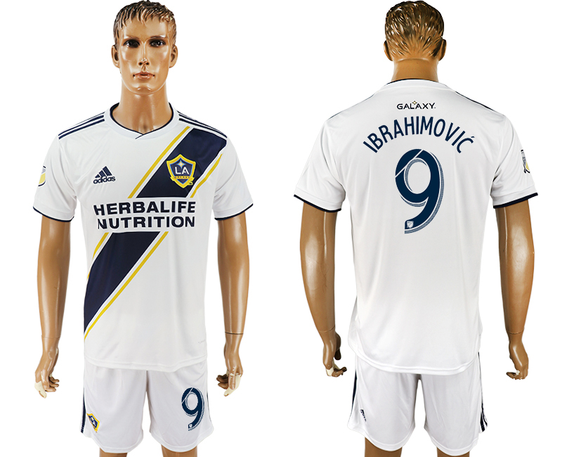 Men 2018-2019 club Los Angeles Galaxy home 9 white soccer jersey