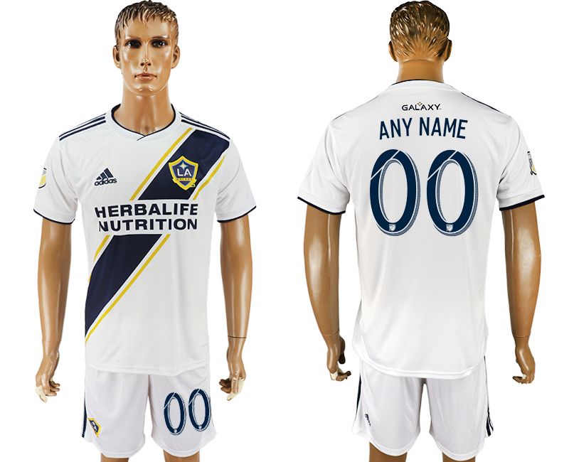 Men 2018-2019 club Los Angeles Galaxy home customized white soccer jersey