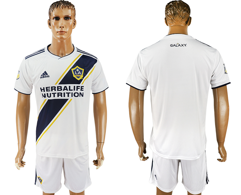 Men 2018-2019 club Los Angeles Galaxy home white soccer jersey