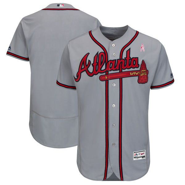 Men Atlanta Braves Blank Grey Mothers Edition MLB Jerseys