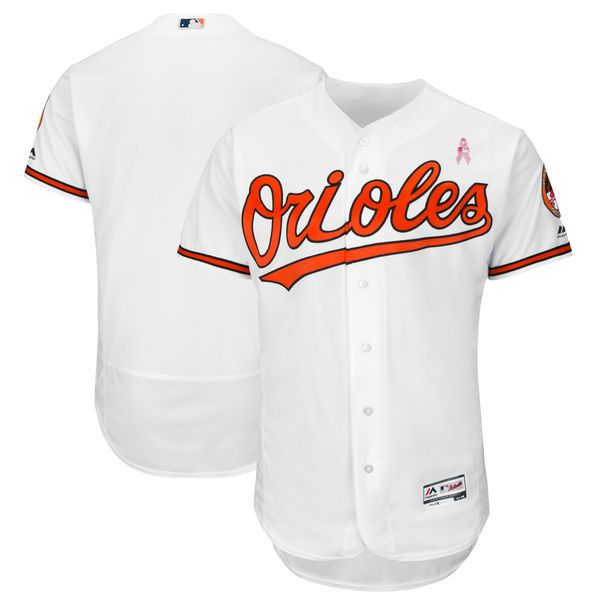 Men Baltimore Orioles Blank White Mothers Edition MLB Jerseys