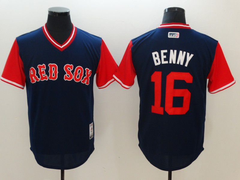 Men Boston Red Sox 16 Benny Blue Rush Limited MLB Jerseys