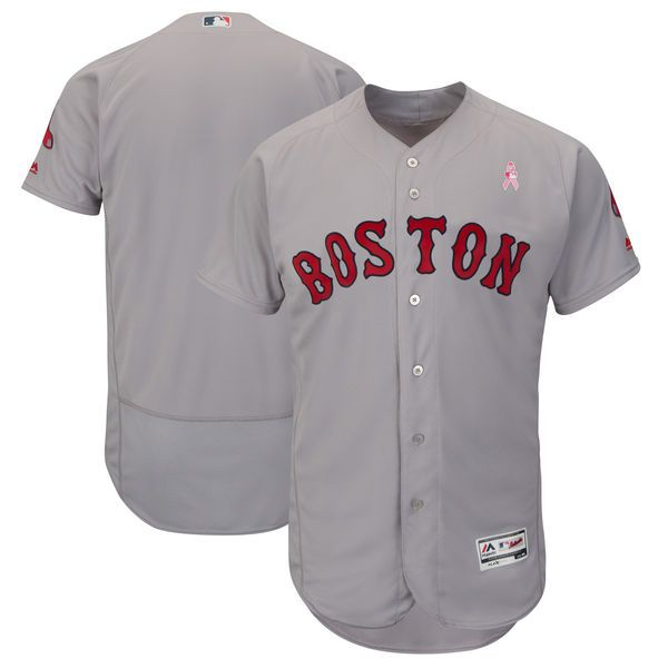 Men Boston Red Sox Blank Grey Mothers Edition MLB Jerseys