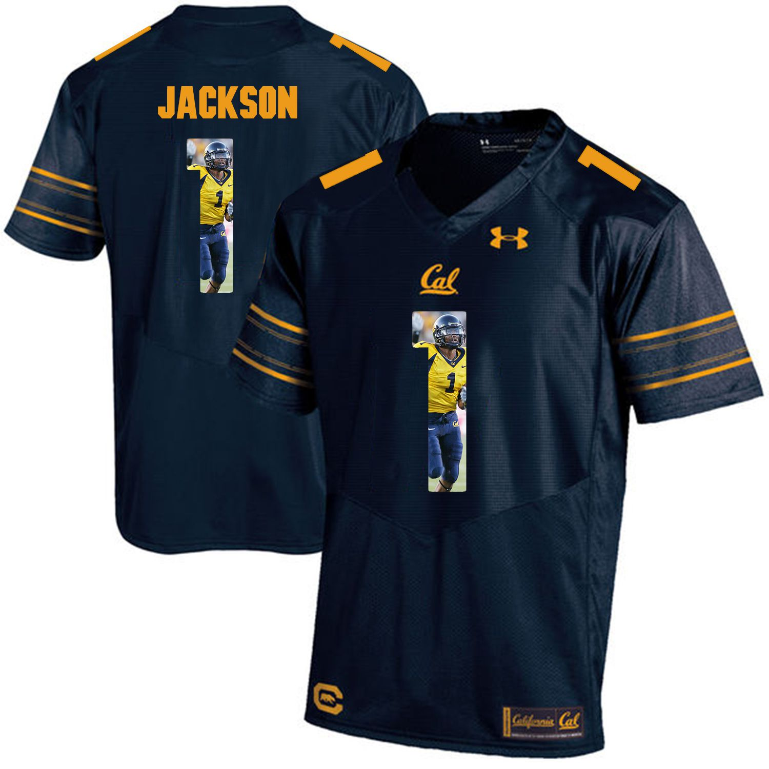 Men California Golden Bears 1 DeSean Jackson Dark blue Customized NCAA Jerseys