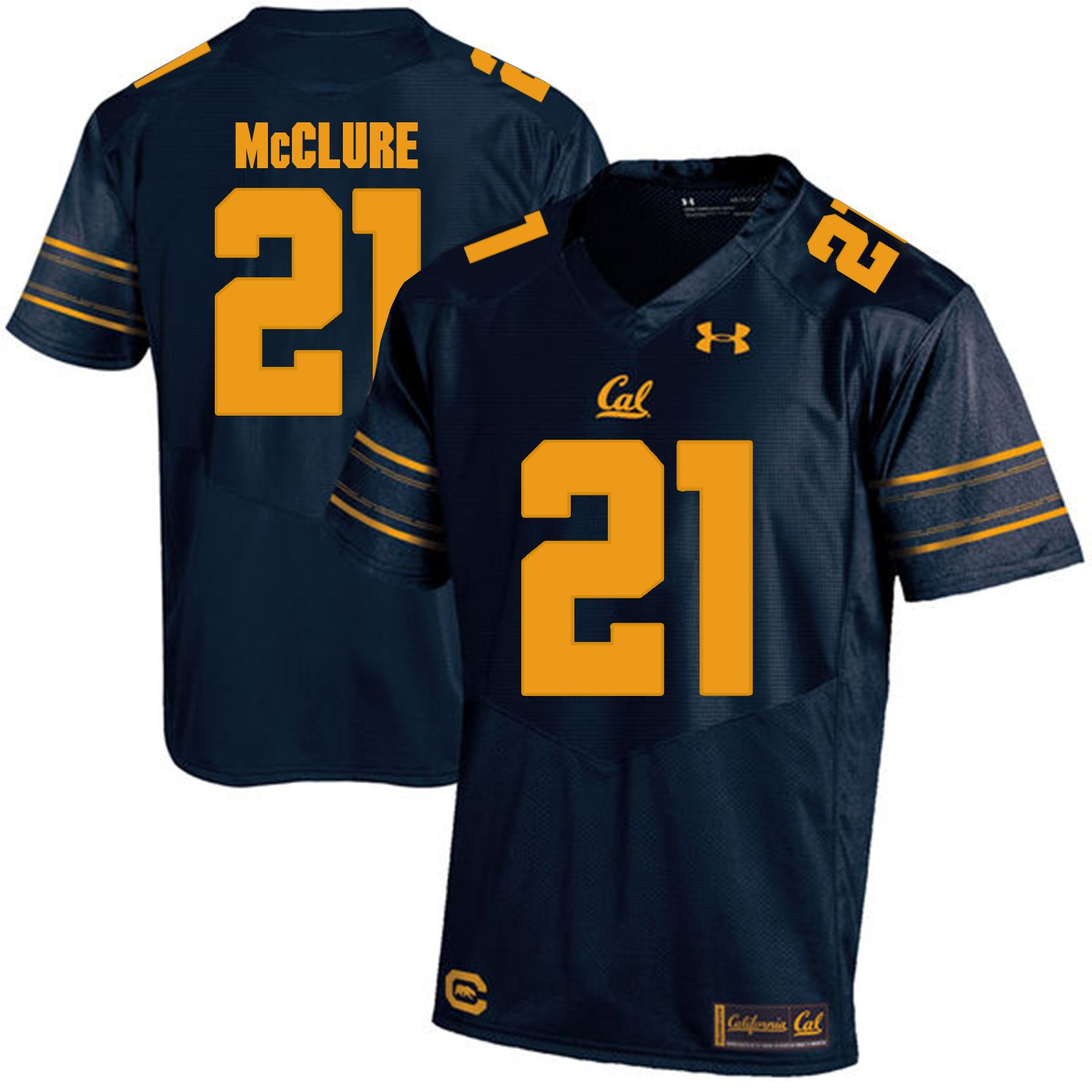 Men California Golden Bears 21 Stefan McClure Dark blue Customized NCAA Jerseys