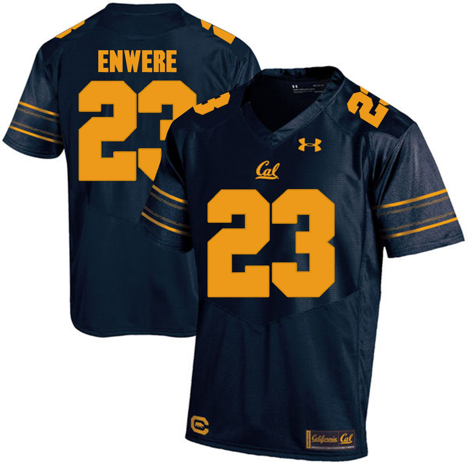 Men California Golden Bears 23 Vic Enwere Dark blue Customized NCAA Jerseys