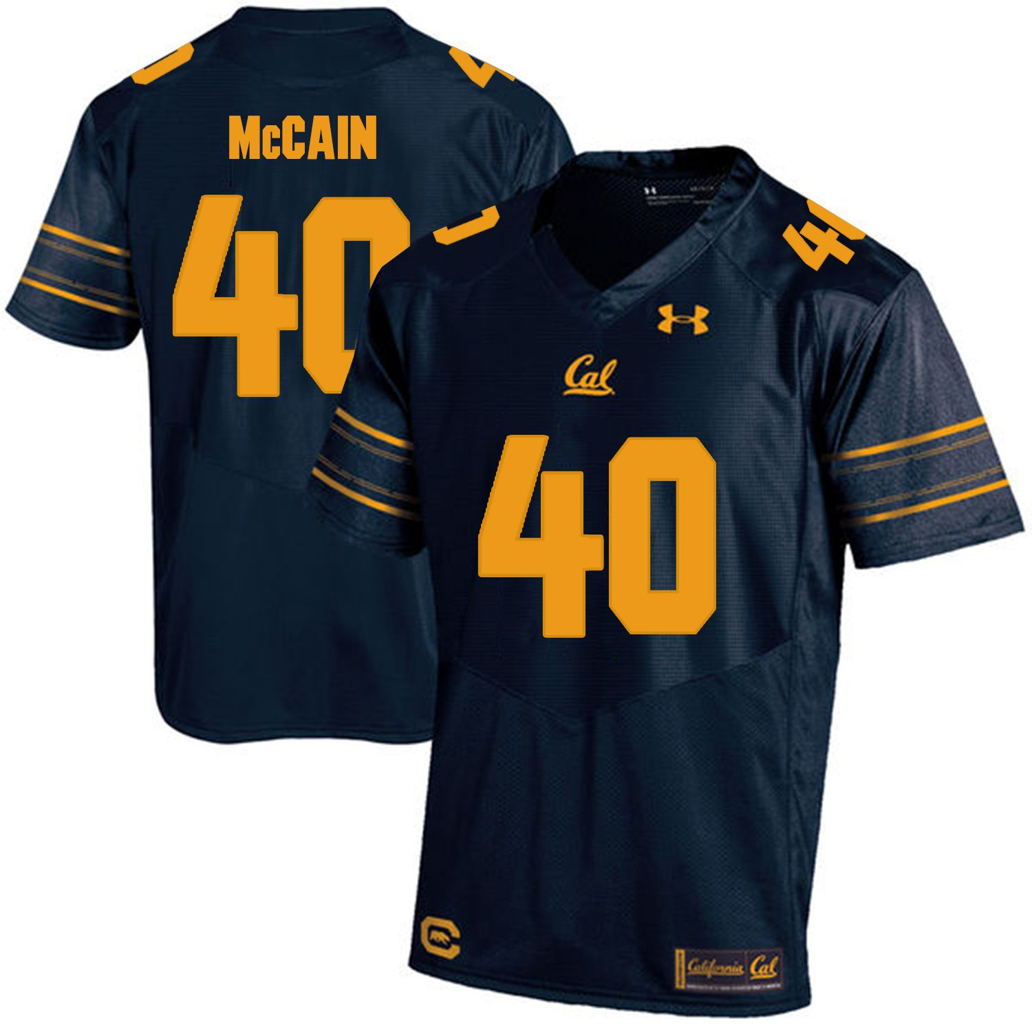 Men California Golden Bears 40 Chris McCain Dark blue Customized NCAA Jerseys
