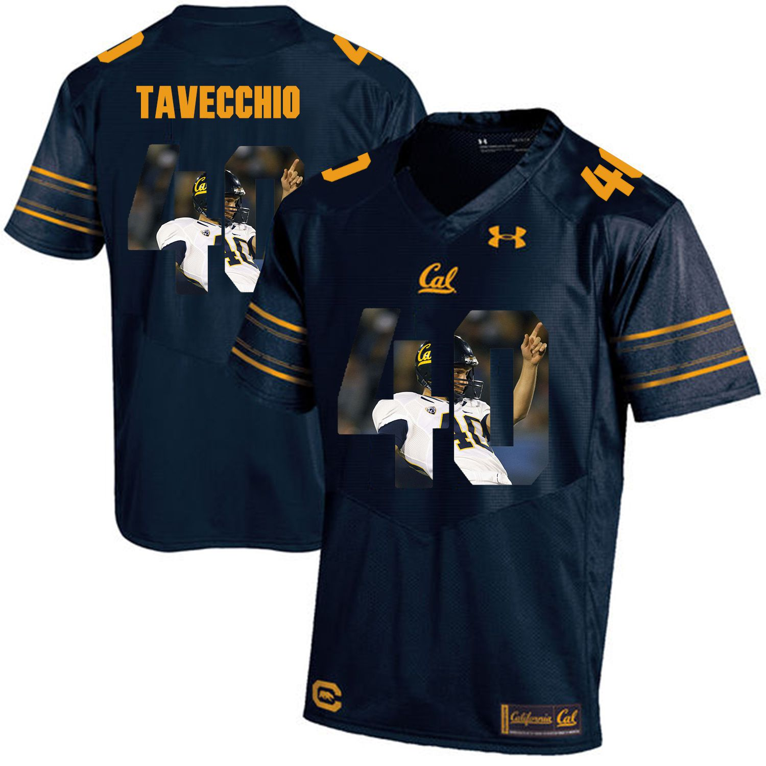 Men California Golden Bears 40 Giorgio Tavecchio Dark blue Customized NCAA Jerseys1