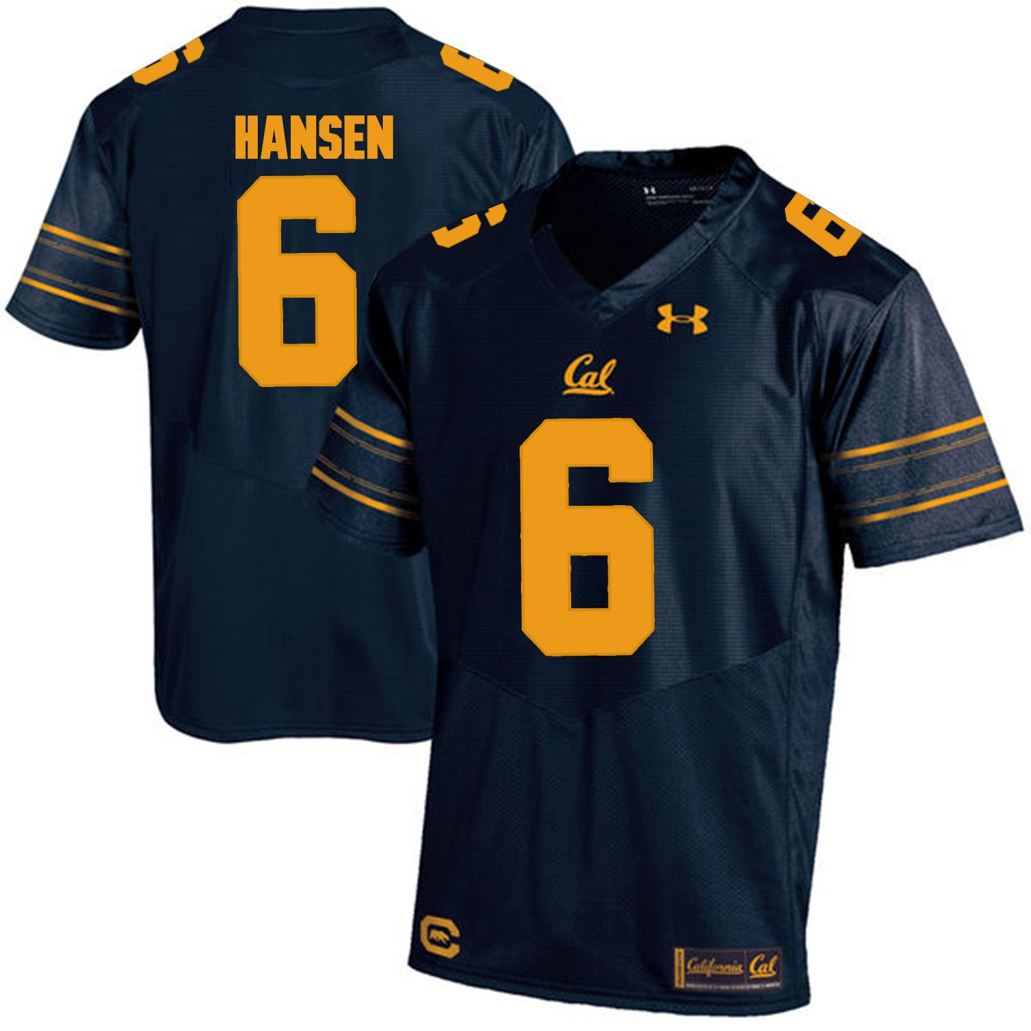 Men California Golden Bears 6 Chad Hansen Dark blue Customized NCAA Jerseys